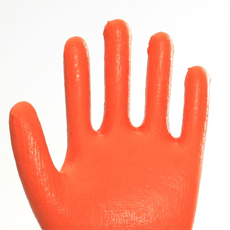 Cotton Liner Latex Coating Safety Working Gloves 3