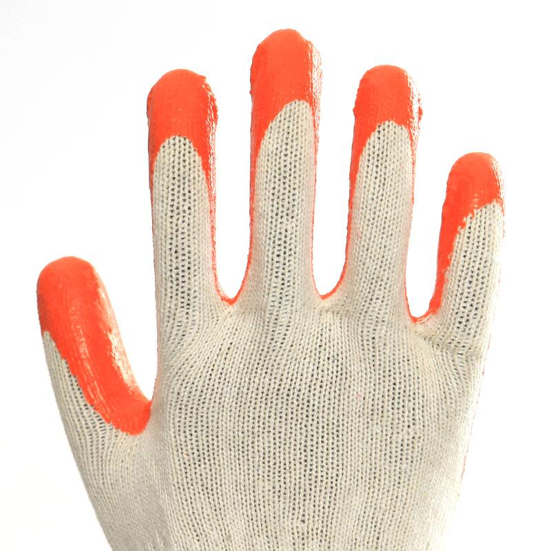 Cotton Liner Latex Coating Safety Working Gloves 2
