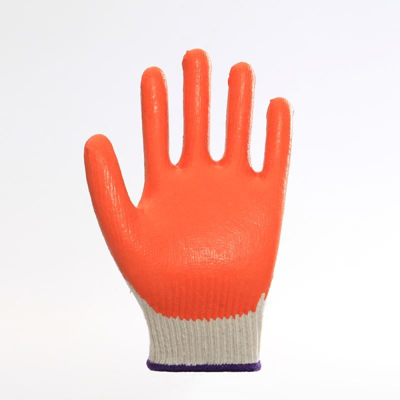 Cotton Liner Latex Coating Safety Working Gloves 1