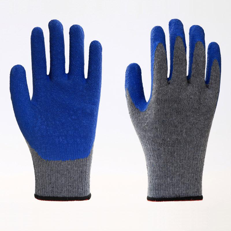 Latex Coating Crinkle Protuction Gloves 5