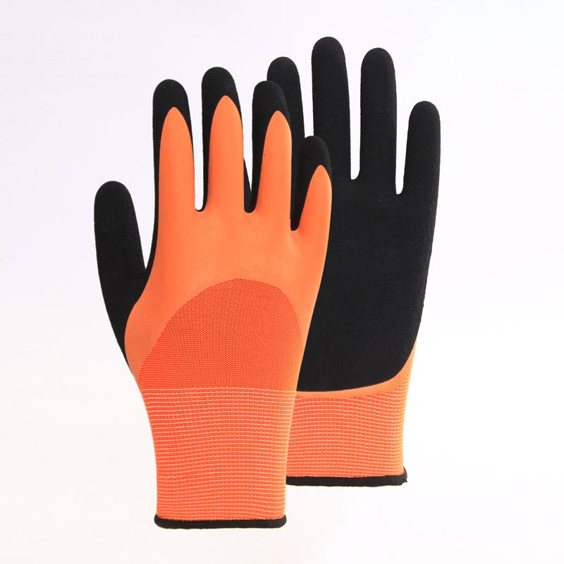 Two - Color Nitrile Safety Gloves 4