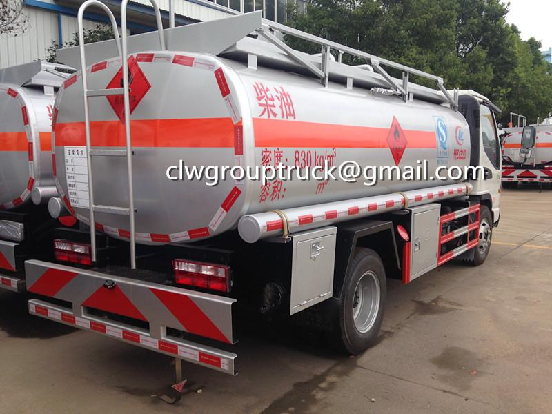 Top Sale JAC 120HP 5000L Fuel Tank Truck 4