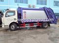 DFAC Duolika 6CBM Container Garbage Compactor Truck 5