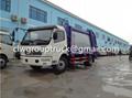 DFAC Duolika 6CBM Container Garbage Compactor Truck 4