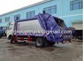 DFAC Duolika 6CBM Container Garbage Compactor Truck 3