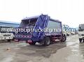 DFAC Duolika 6CBM Container Garbage Compactor Truck 2