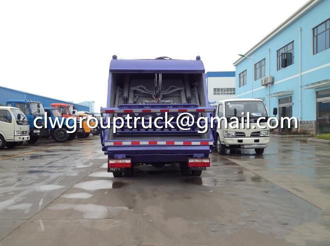 DFAC Duolika 6CBM Container Garbage Compactor Truck 1