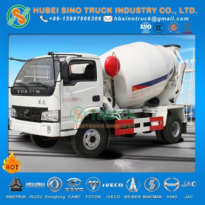 IVECO Yuejin 3cbm Concrete Mixer Truck 4