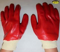 Chemical resistant waterproof PVC coated gloves