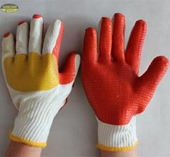 7g/ 10g polycotton laminated rubber work gloves