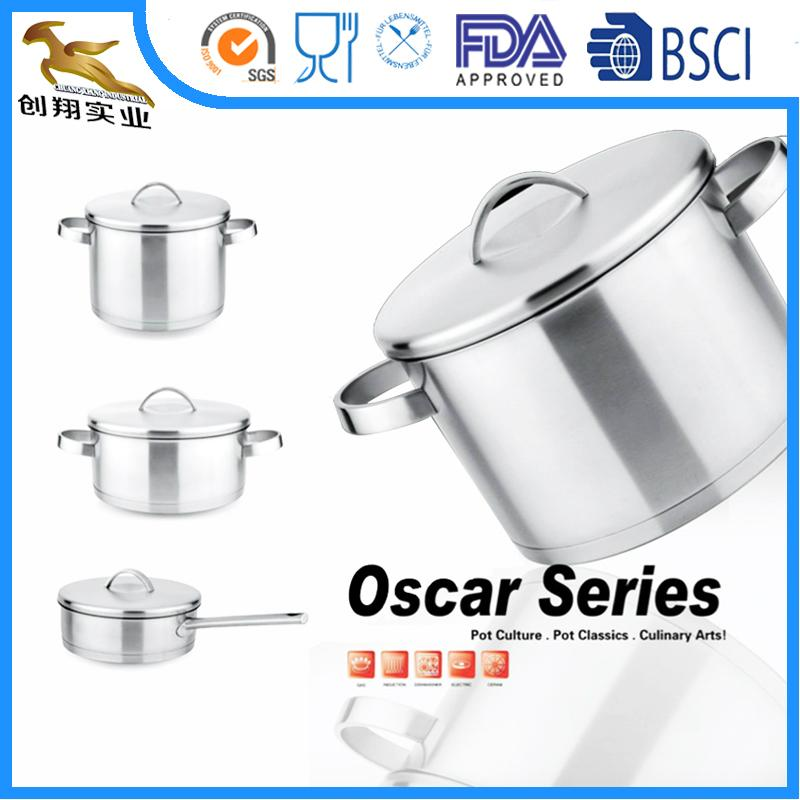 18/10 Stainless Steel Cookware Set Pan and Pot