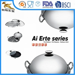 3ply Stainless Steel Cookware Wok Fying Pan