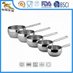 18/10 Stainless Steel Cookware Milk Pot Single Handle