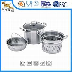 18/10 stainless steel kitchen utensils Steamer and Colander
