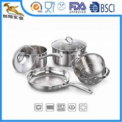 premium qualtiy 18/10 stainless steel Frying Pans wok