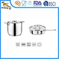 18/10 Stainless steel cookware 4pcs sauce pan with Lid