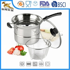 Stainless Steel Cookware pasta steamer set
