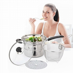 18/10 Stainless Steel Cookware pasta steamer set