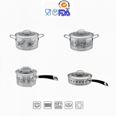 Decal Stainless Steel Cookware Set 8pcs OEM