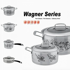 Stainless Steel Decal China Cookware Set 8pcs