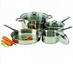 Stainless Steel Cookware Set Sauce Pot 8PCS 3fly