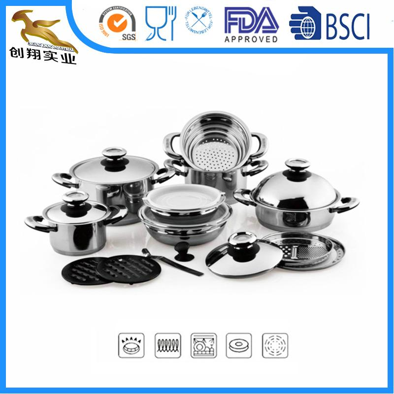 18 10 Stainless Steel Casserole Cookware Set Oem China