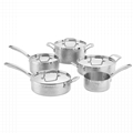 Tri-Ply Hammered 18/10 Cookware Sets