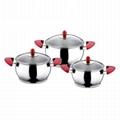 High quality Stainless Steel cauce Pot Set 6 Piece