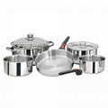 Stainless Steel Nesting Cookware Set