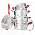 Stainless Steel Cookware Set 9 Piece