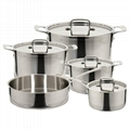 18/10 Stainless Steel Cookware Sets 9 Piece