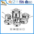 18/10 High quality Stainless Steel Cookware Sets 13pc