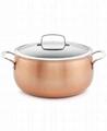 OEM 3-Ply Copper Cookware 7.5qt Sauce Pot with Lid