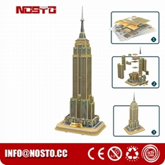 3D Building Puzzle for Empire State Building Construction Model and Set