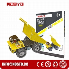 Dump truck 3D puzzle car model kits DIY toys for boy