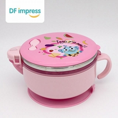 Infant Children's Tableware Stainless Steel Non-Slip Suction Cup Bowl