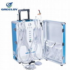 Portable dental unit with Curing light