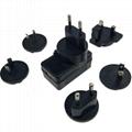 interchangeable plug  6V 0.6A ac adapter