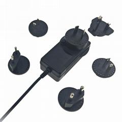 5V5A电源适配器 可换插脚适配器 转换头电源适配器