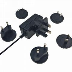 12.6V1A鋰電池充電器 轉換腳充電器 可換式插頭充電器