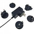 IEC62368-1 exchangeable plug 12v 1a