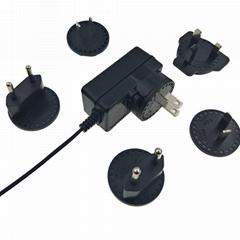 可换插头适配器 12V1A转换插脚电源适配器