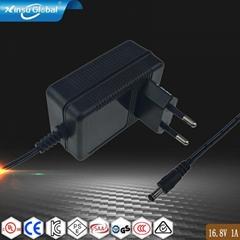 BSI认证16.8V1A锂电池喷雾器充电器 宽电压电动工具医疗设备充电器