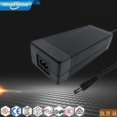 29.2V5A铅酸电池充电器 电动车充电器 多国认证充电器