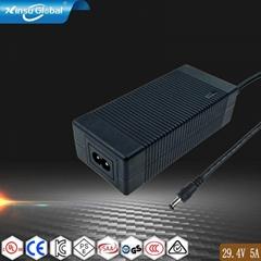 29.4V5A锂电池充电器 锂电背负式电动喷雾机25.9V电池充电器