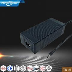 UL60950认证73V2A磷酸铁锂电池充电器,20串铁锂电池组充电器