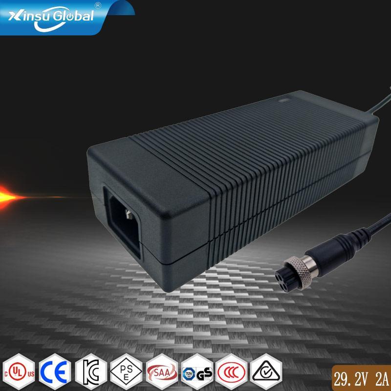 29.2V2A磷酸铁锂电池充电器,日规PSE认证29.2V电池充电器 1