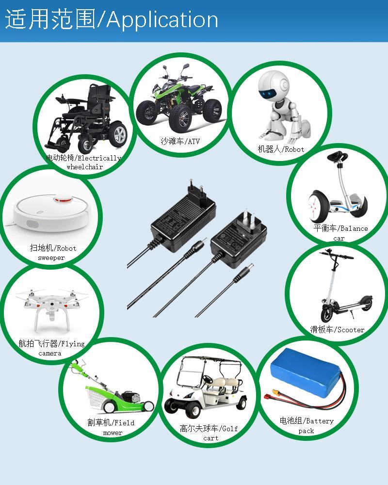 14.6V1A 铁锂电池充电器 14.6V充电器 ROHS认证充电器 10
