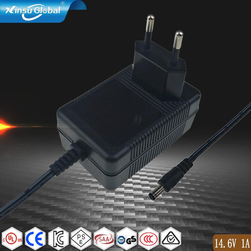 14.6V1A 铁锂电池充电器 14.6V充电器 ROHS认证充电器 1