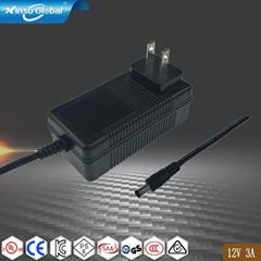 UL认证12V3A美规插墙式电源适配器 DOE六级能效认证适配器